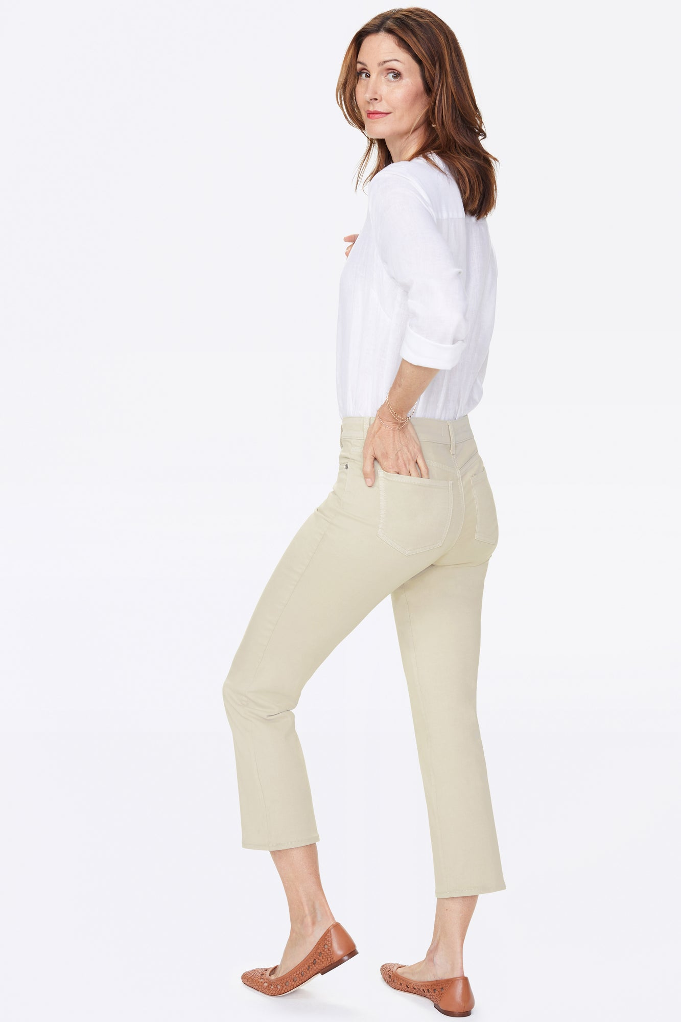 Marilyn Straight Ankle Pants - FEATHER