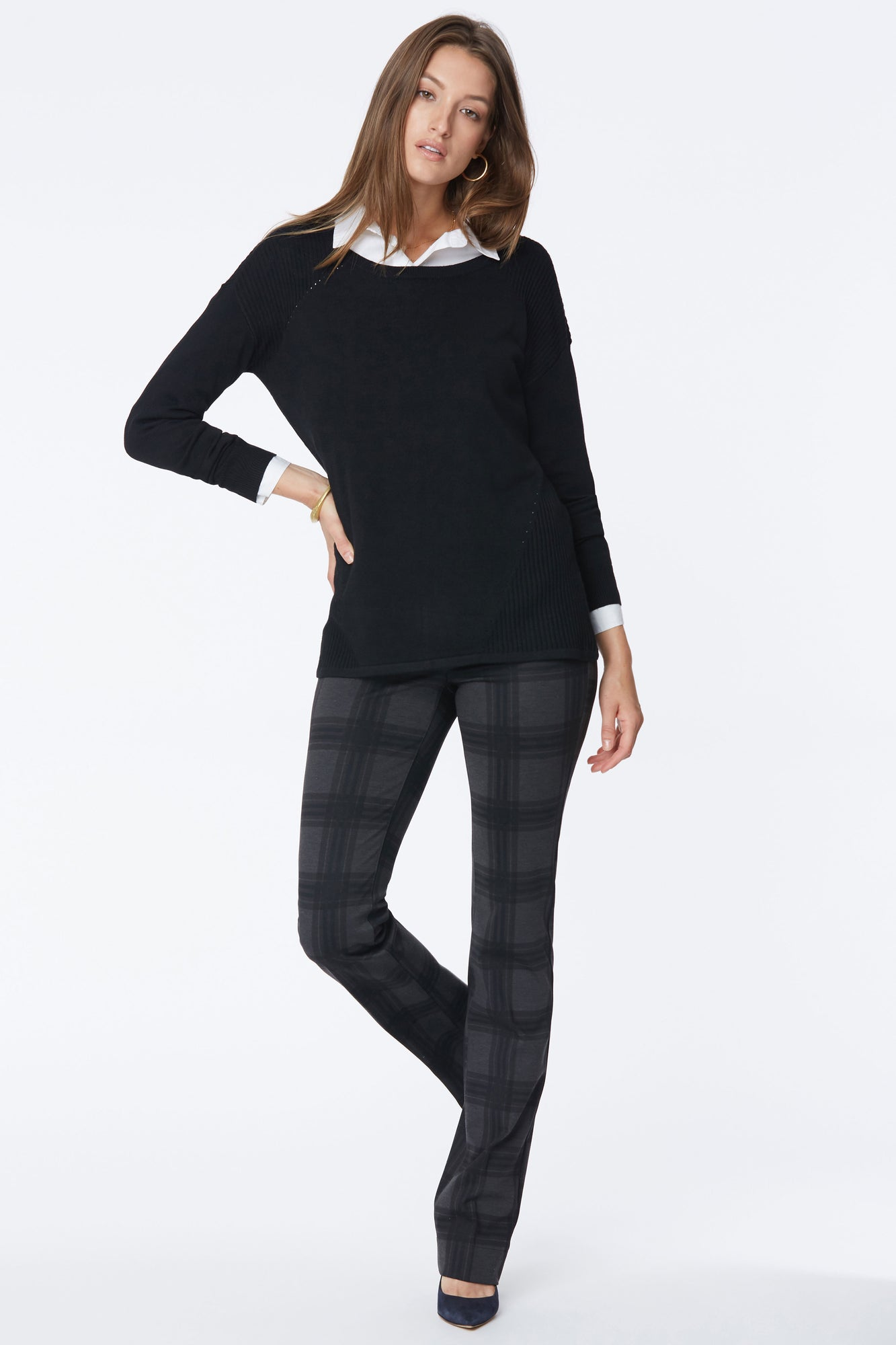 Boatneck Sweater - BLACK