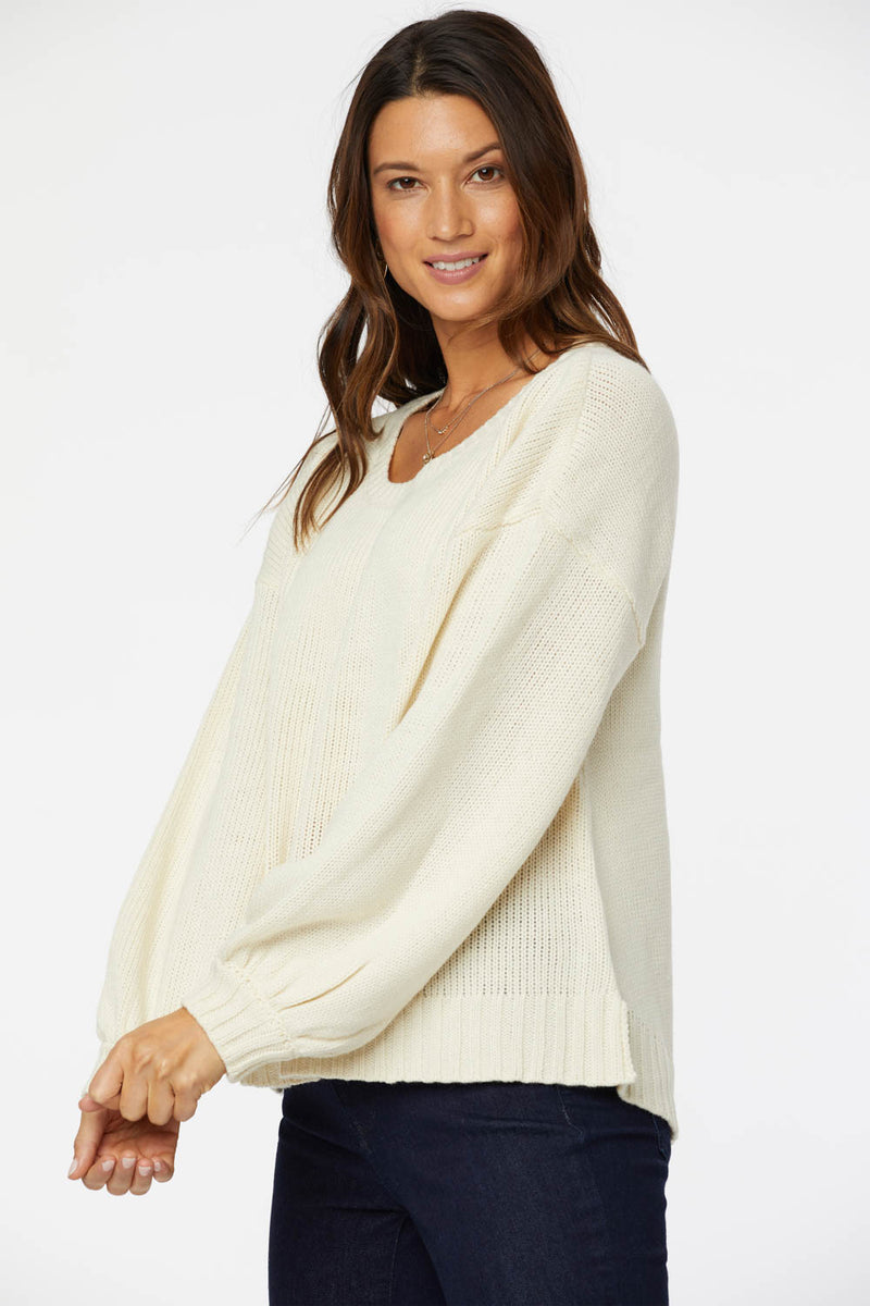 Ballet Neck Sweater - VANILLA
