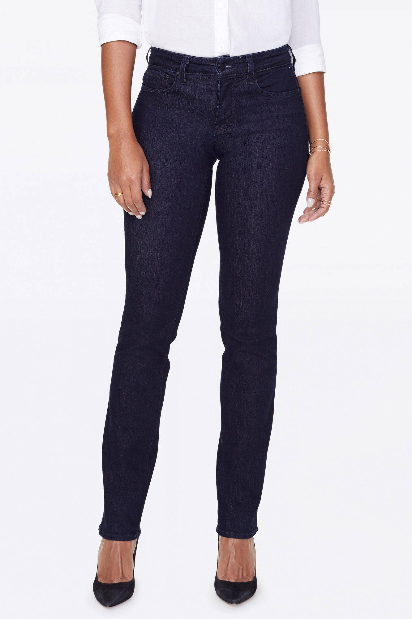 Marilyn Straight Jeans In Petite - RINSE