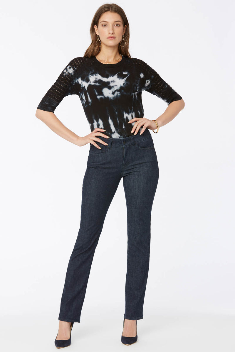 Marilyn Straight Jeans In Petite - Lightweight Rinse
