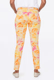 Sheri Slim Ankle Pants In Petite - BEACH GARDEN CLEMENTINE