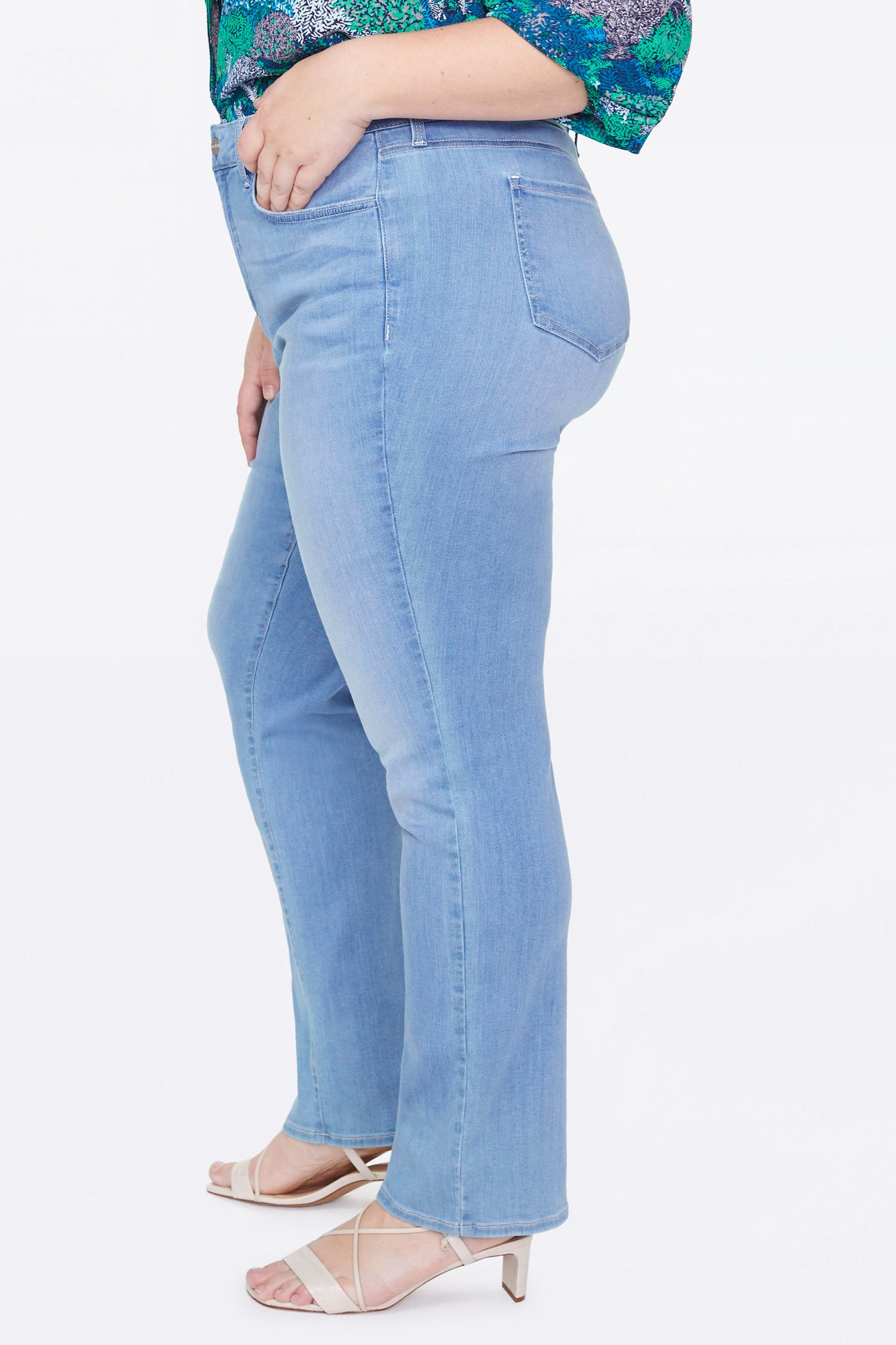 Marilyn Straight Jeans In Plus Size - TROPICALE