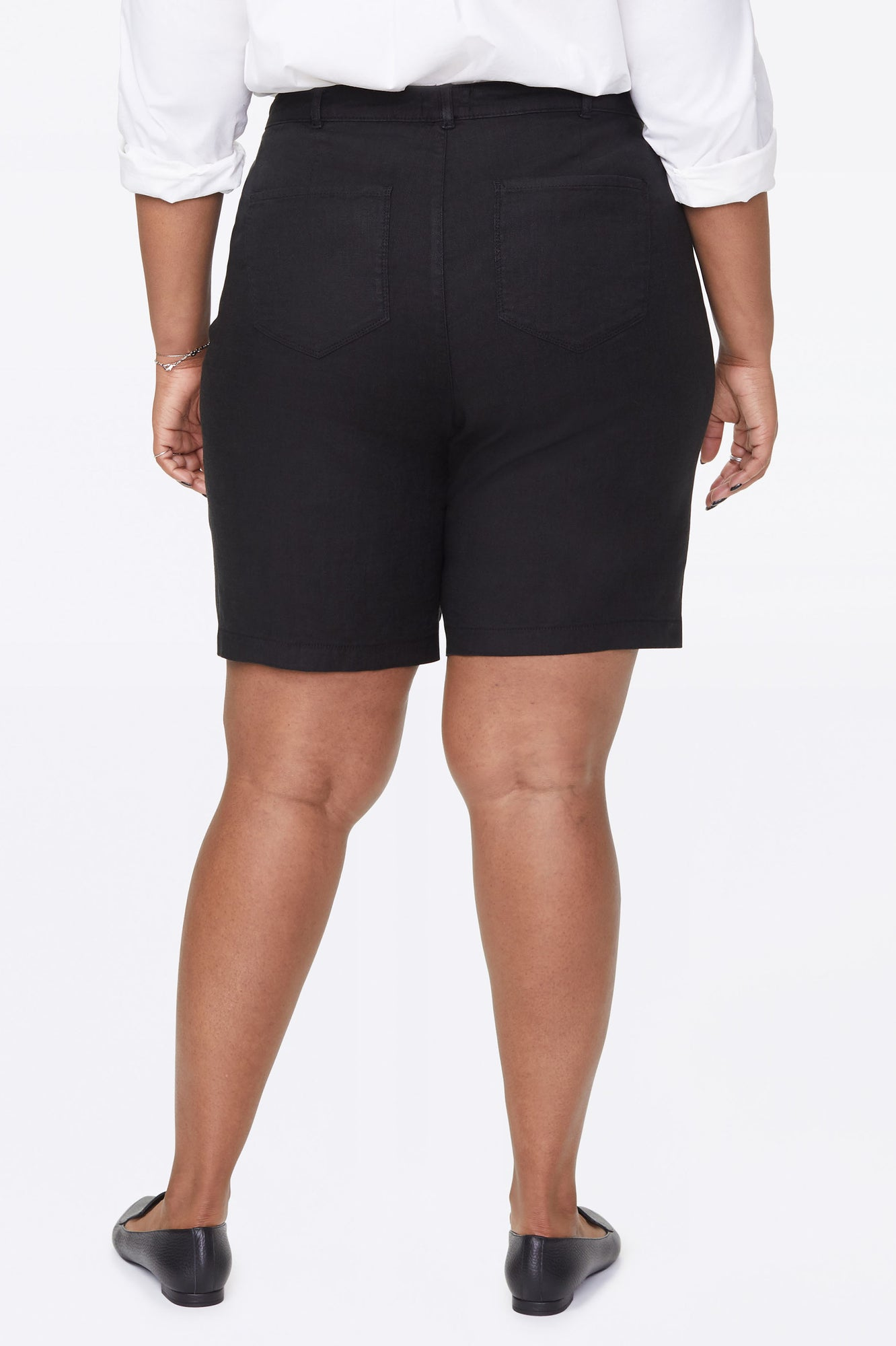 Bermuda Shorts In Plus Size - BLACK