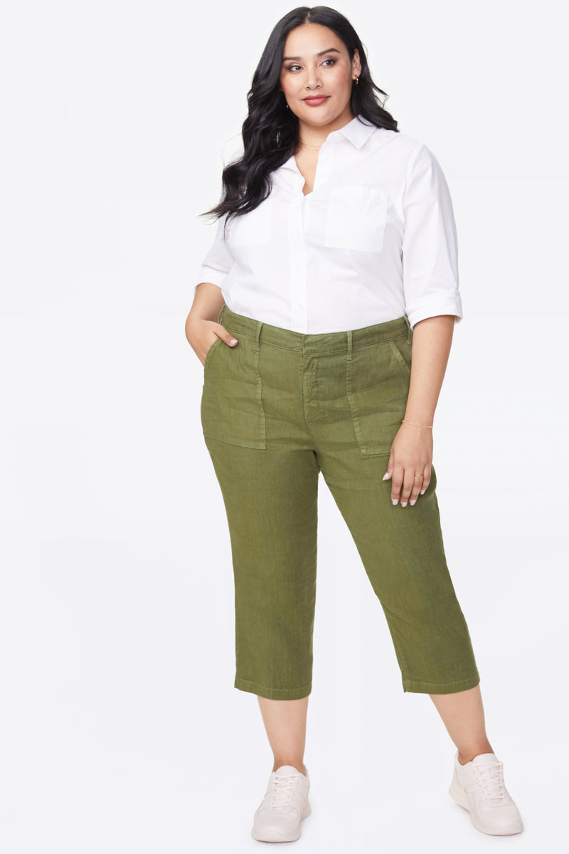 Utility Pants In Plus Size - OLIVINE
