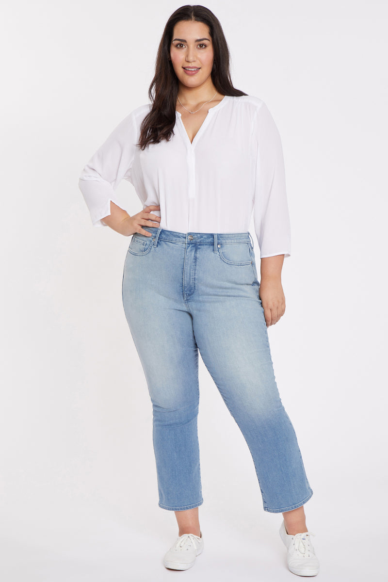 Slim Bootcut Ankle Jeans In Plus Size - Camille