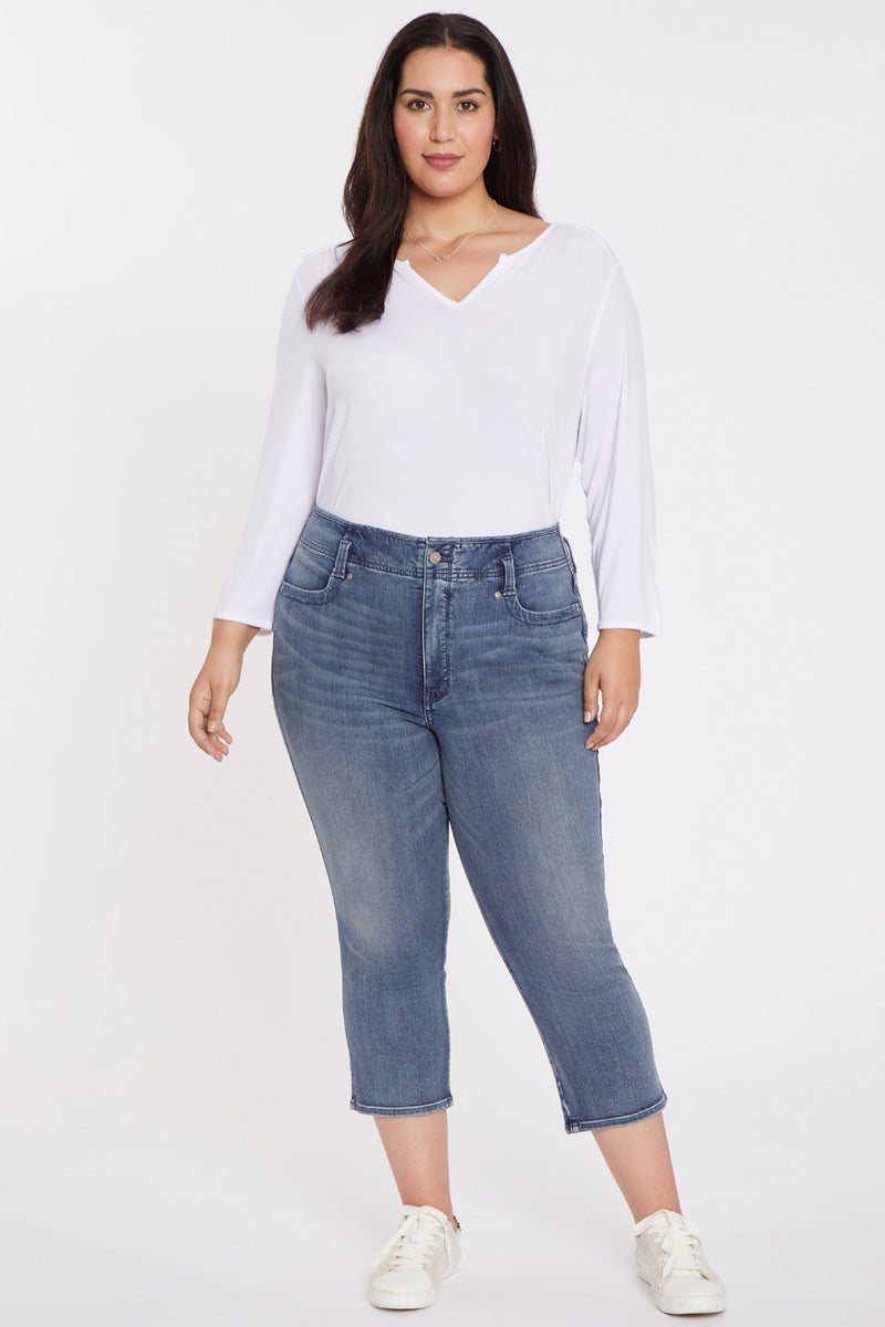 Ami Skinny Capri Jeans In Plus Size - MBLUE