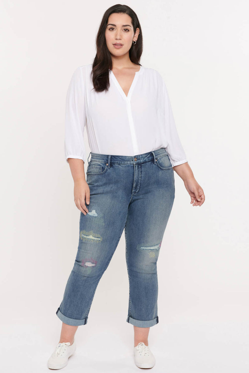 Marilyn Straight Ankle Jeans In Plus Size - Clean Monet