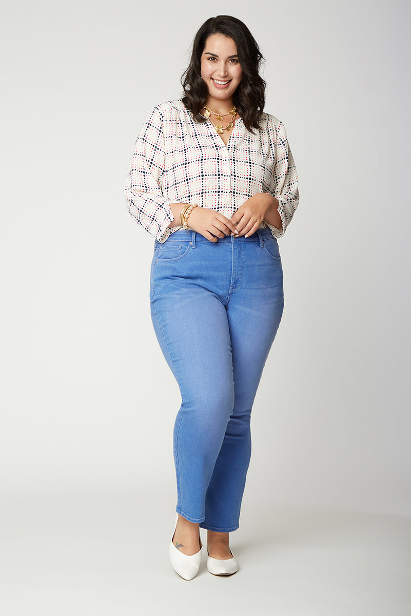 Sheri Slim Ankle Jeans In Plus Size - EDGEWATER