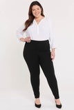 Pull-On Skinny Legging Pants In Plus Size - Jet Black