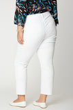 Marilyn Straight Ankle Jeans In Plus Size - OPTIC WHITE