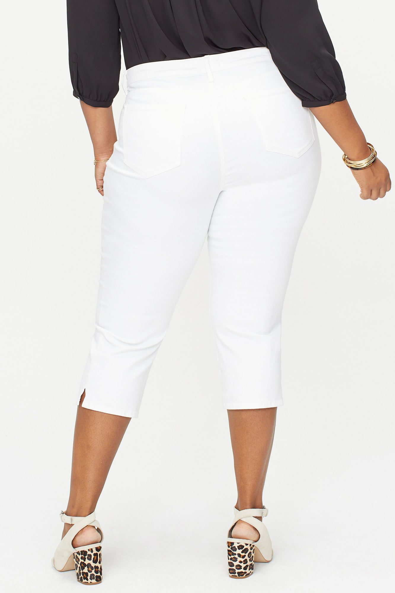 Skinny Capri Jeans In Plus Size - OPTIC WHITE