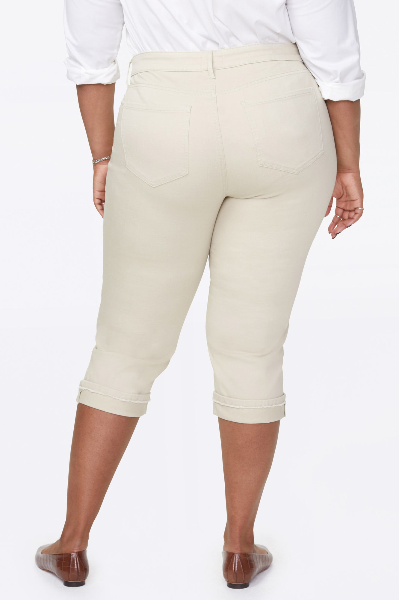 Marilyn Straight Crop Jeans In Plus Size - FEATHER