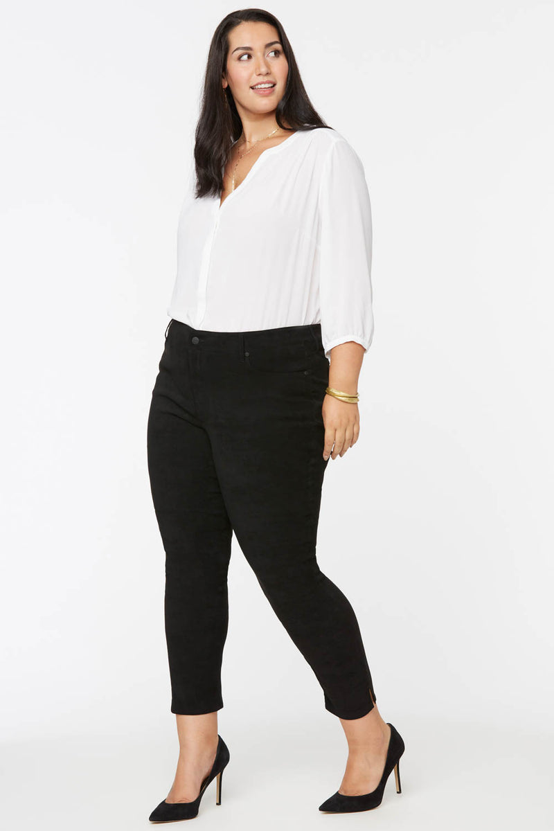 Alina Skinny Ankle Jeans In Plus Size - BLACK