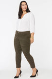Alina Skinny Ankle Jeans In Plus Size - MARTINI OLIVE