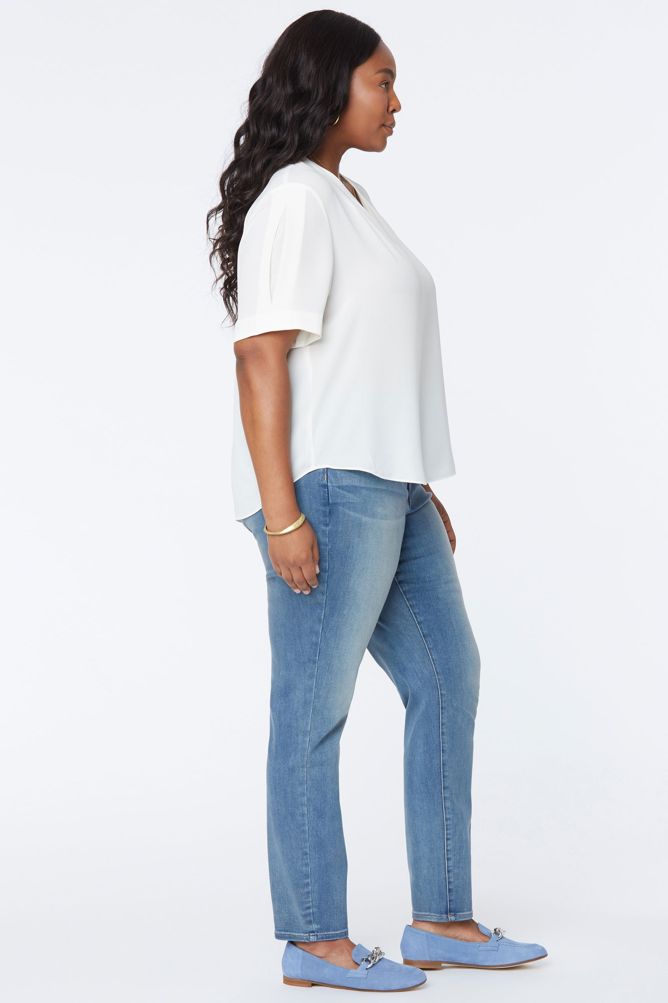 Charming Top In Plus Size - VANILLA