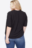 Charming Top In Plus Size - BLACK