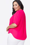 Charming Top In Plus Size - BIG PINK