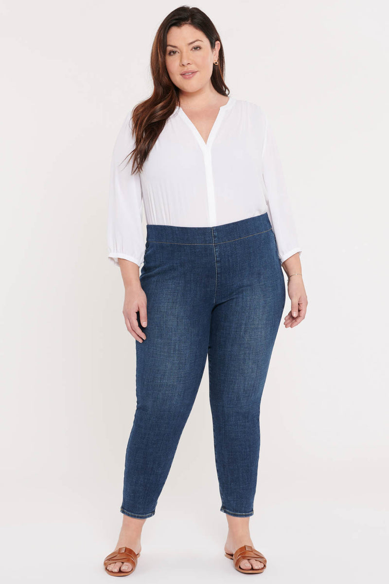 Skinny Ankle Pull-On Jeans In Plus Size - Clean Marcel