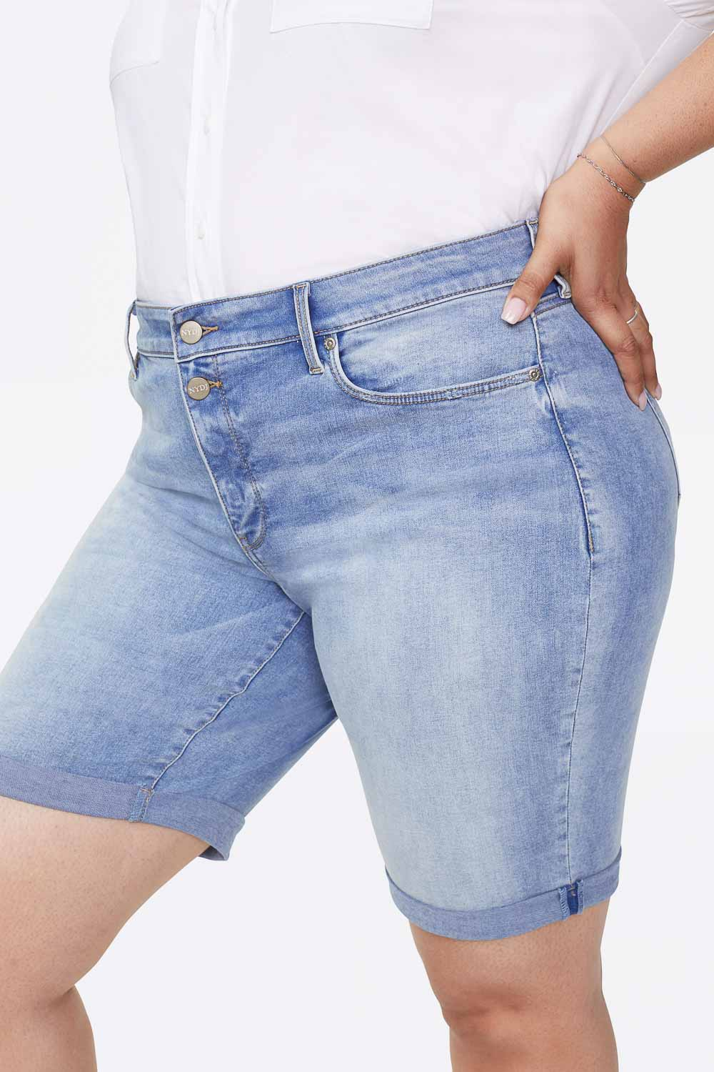 Briella 11 Inch Shorts In Plus Size - BISCAYNE