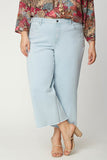 Wide Leg Capri Jeans In Plus Size - VALHALLA