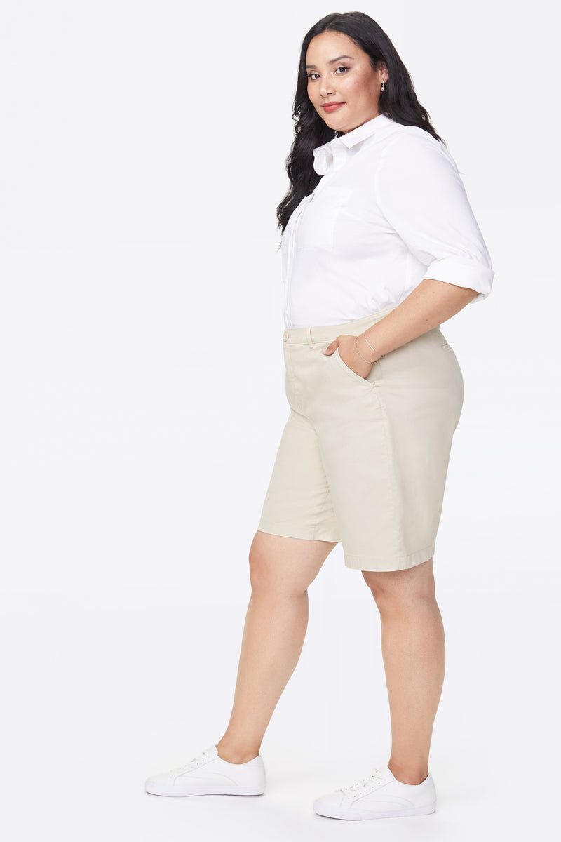 Bermuda Shorts In Plus Size - FEATHER