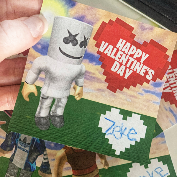 Roblox Valentine's Day Cards - Digital Download