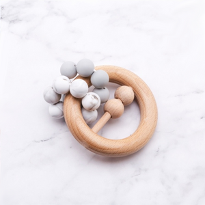 Rattle Teether - Grey