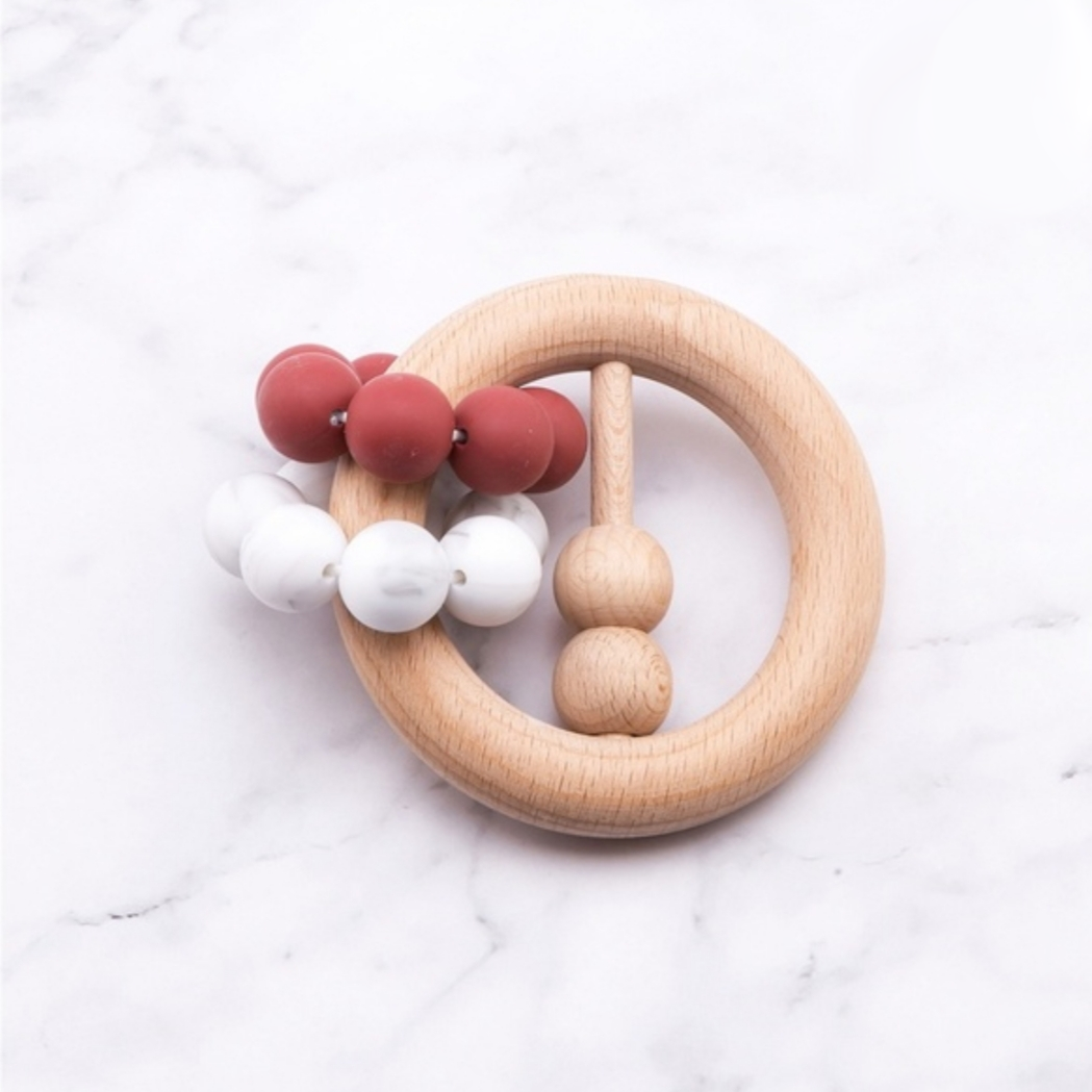 Rattle Teether - Red