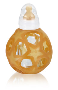 Glass Feeding Bottle With Rubber Star Ball