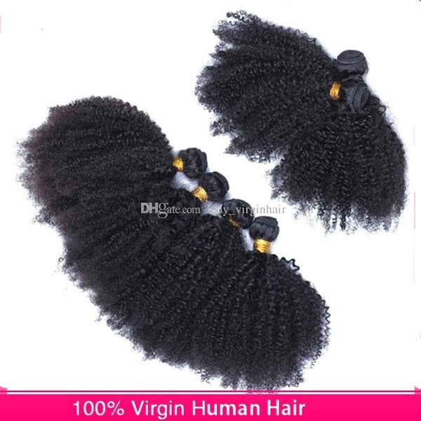 Brazilian Hair Kinky Curly Human Hair Weaves 4pcs lot 8A 100% Unprocessed afro Kinky Curly Hair Extensions