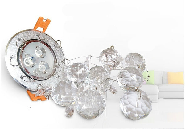 Mini modern crystal chandelier lustre Ceiling LED lamp