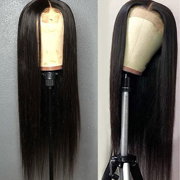Glueless Heat Resistant Fiber Hair Yaki Synthetic Lace Front Wigs for Fashion Women