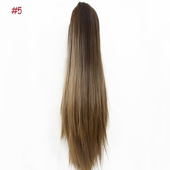 Women Fashion Claw Clip Long Straight Ponytail Hair Extensions Wig Hairpiece