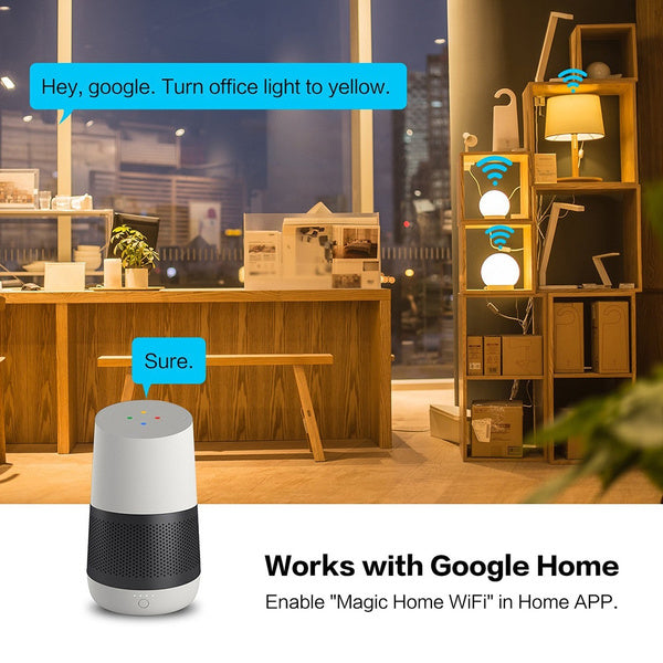 Smart WiFi Bulb Dimmable Wake-Up Lights Compatible with Alexa and Google Assistant US