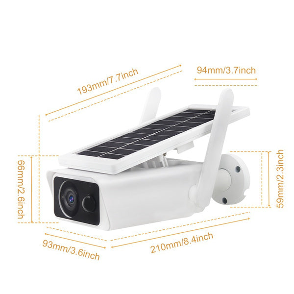 NEW 200W Pixels Solar Security Surveillance 1080P Waterproof Night Vision 360°Adjustable Angle Wireless IP Camera