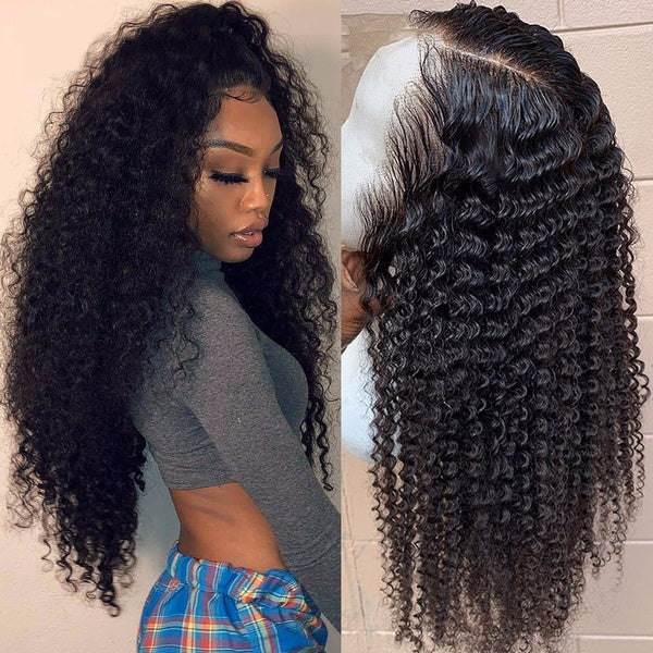 PrePlucked with Baby Hair Curly Lace Front Wig U Part Wig