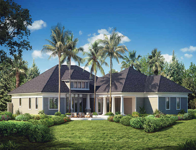 Complete decorative two storey luxury prefab house