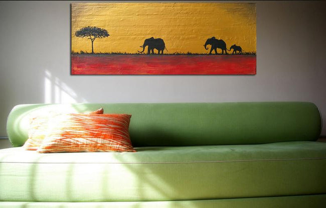 Elephant art landscape pop abstraction contemporary