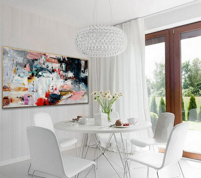 Colorful Modern Abstract Wall Art Extra Large Palette Knife Painting