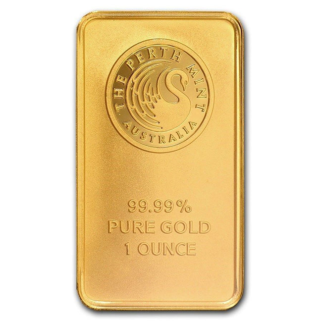 1 oz Perth Mint Gold Bar .9999 Fine Gold With Assay Cert