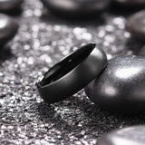 king will TYRE™ ring in black matte finish