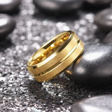 King Will CLASSIC™Gold Matte Brushed Finish Comfort Fit Ring