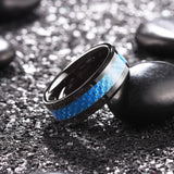 king will Gentleman™  blue carbon fiber inlaid with black coated ring