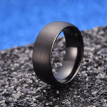 king will TYRE™ Dome ring in black matte finish
