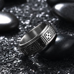 King Will intertwine™Titanium Wedding Band Dice Pattern Spinner Ring