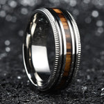 King Will NATURE™ Real Wood Inlay Sawtooth Edge Ring