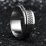 King Will INTERTWINE™ Knot Design Spinner Ring High Polished