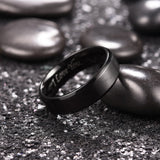King Will BASIC™ 7mm black ring with I LOVE YOU LASER