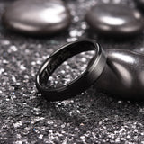 King Will BASIC™ 5mm black ring with I LOVE YOU LASER